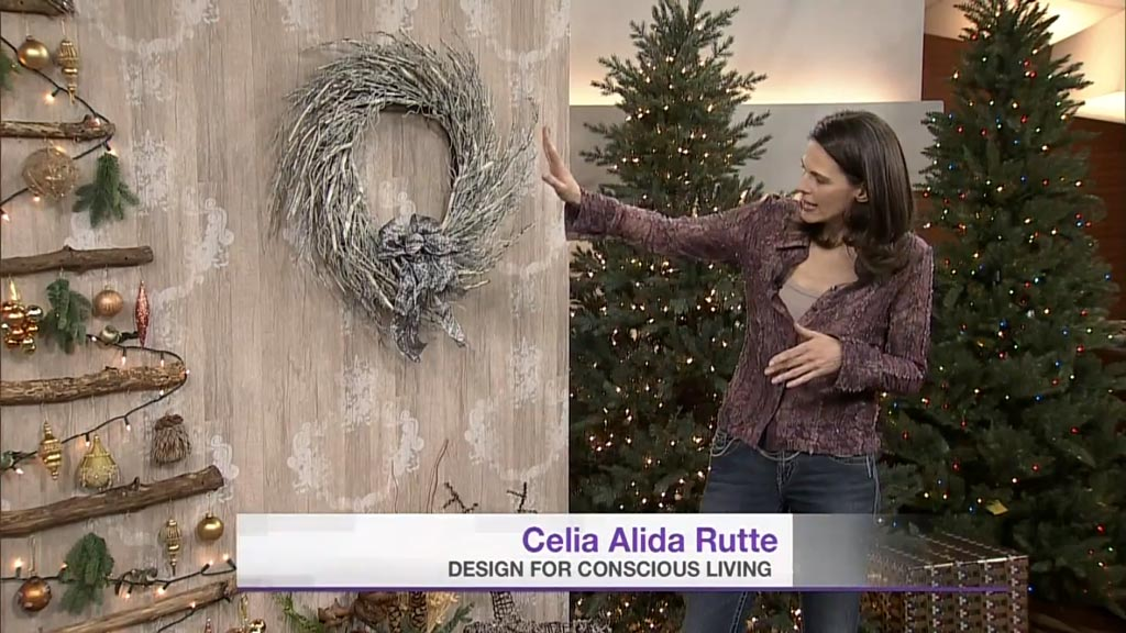 Cityline Guest Designer Celia Alida Rutte Shows How to Make a Wall Mounted Christmas Tree
