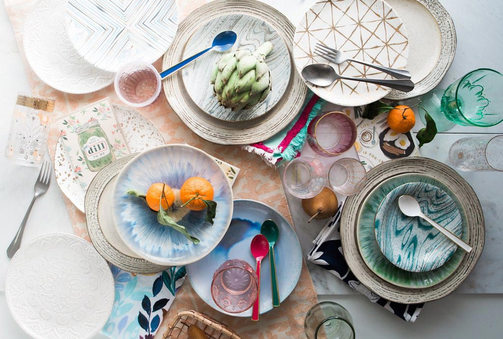 DFCL - Eco Outdoor Party Décor - Eclectic Mix of Plates, Glasses and Cutlery - Photo by Brooke Lark on Unsplash
