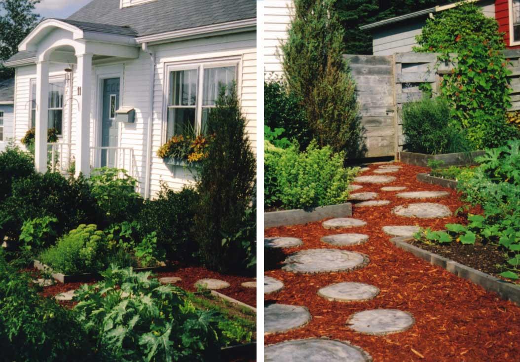 Design for Conscious Living - Edible Garden Design in Toronto - Celias First Foray Into Edible Garden Design - Summer 2003