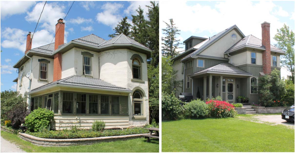 Design for Conscious Living - Milton Home Gets Charming Exterior Facelift by GTA Designer - Milton Exterior Facelift – Before Photo
