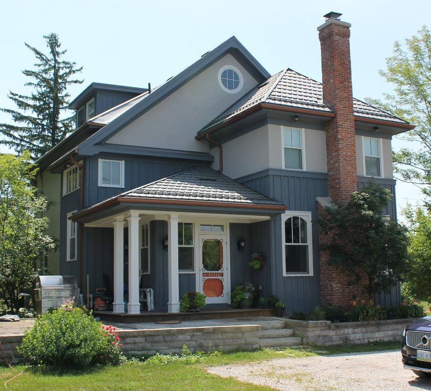 Design for Conscious Living - Milton Home Gets Charming Exterior Facelift by GTA Designer - Milton Exterior Facelift - Back View