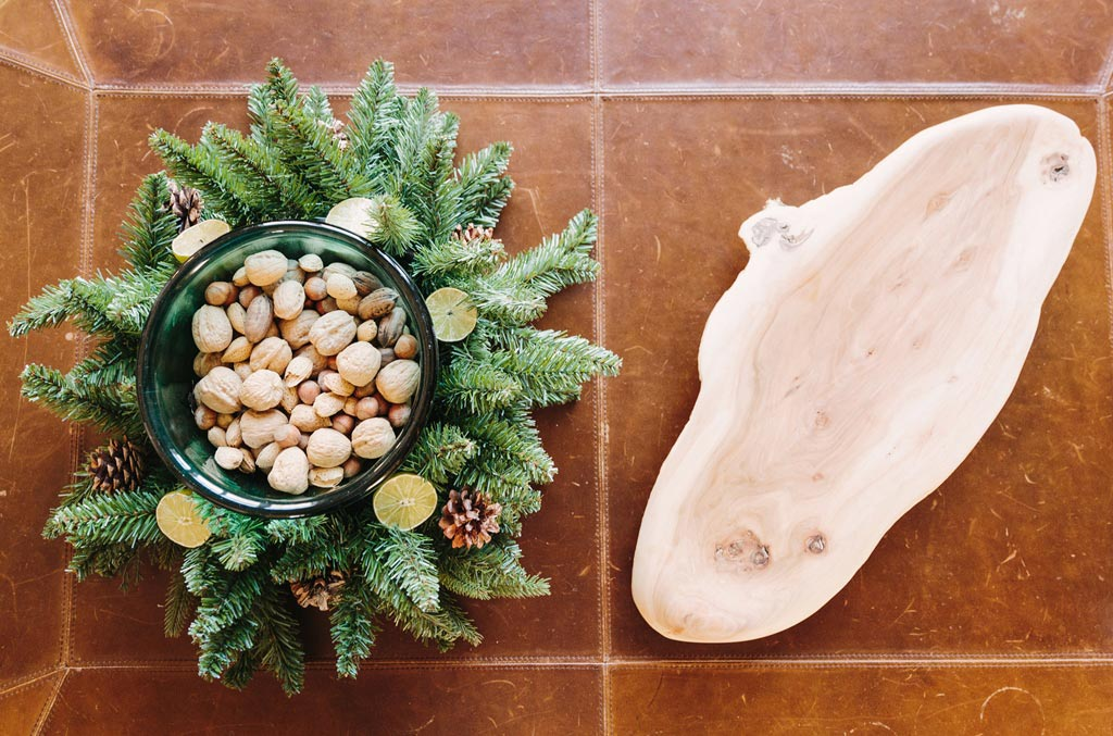 Design for Conscious Living - 5 Beautiful Ways to Decorate with Tree Stumps for Christmas - Bowl