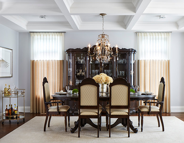 Design for Conscious Living - Luxury Designer Celia Alida Rutte adds a Modern Twist to a Traditional Dining Room - After photo