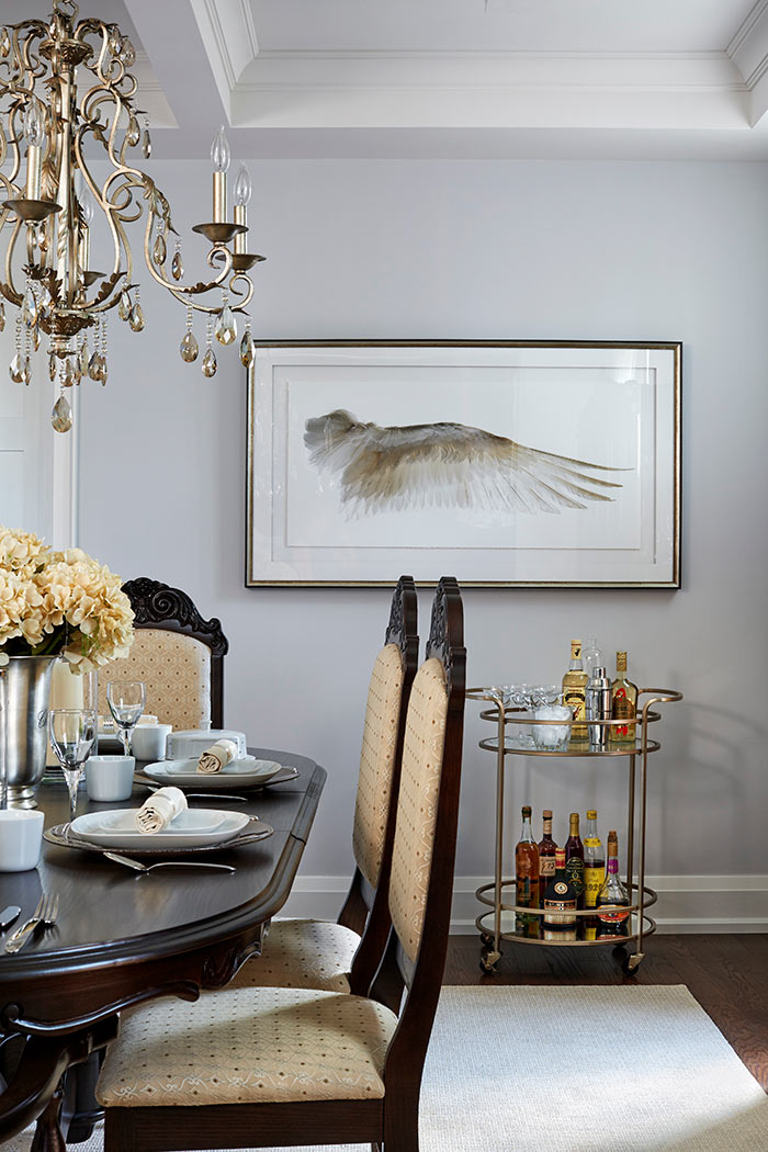 Design for Conscious Living - Luxury Designer Celia Alida Rutte adds a Modern Twist to a Traditional Dining Room - Artwork