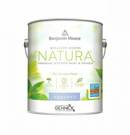 A one gallon container or Benjamin Moore Natura paint.